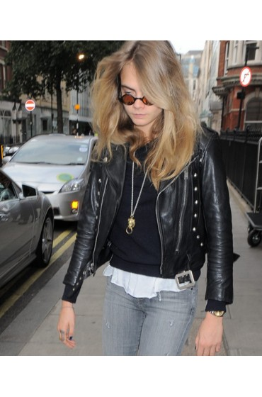 Paper Towns Movie Cara Delevingne Leather Jacket