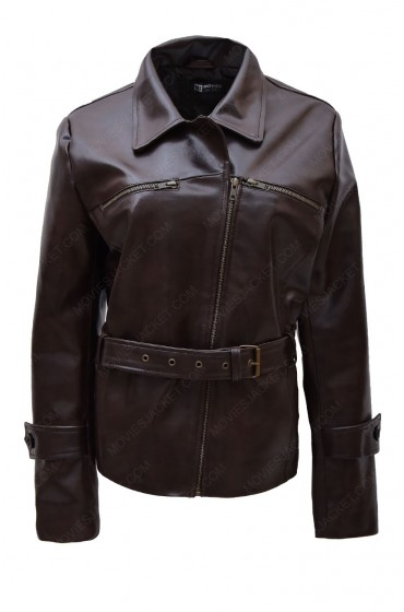 Captain America The First Avenger Peggy Carter Brown Leather Jacket