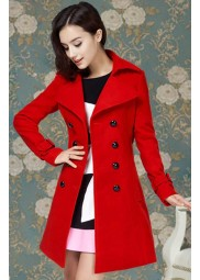 Polar Vivian Red Trench Coat