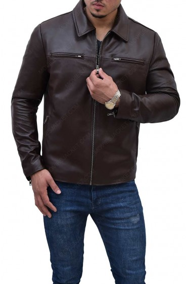 President Obama Brown Leather Jacket
