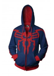 Red and Blue Spiderman Cosplay Cotton Hoodie