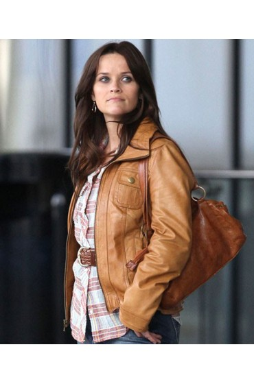 Reese Witherspoon The Good Lie Movie Carrie Davis Leather Jacket