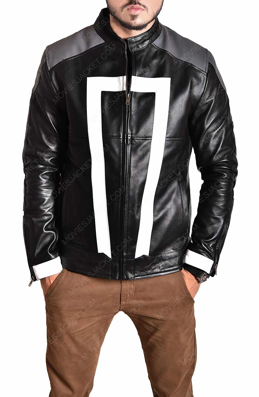 Agent of Shield Ghost Rider Jacket - Robbie Reyes Leather Jacket - Movies  Jacket