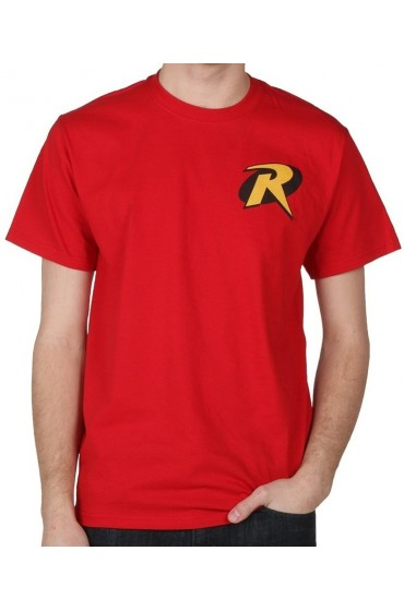 Robin R Symbol Red T-Shirt
