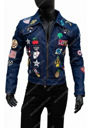 Taron Egerton Rocketman Blue Denim Jacket