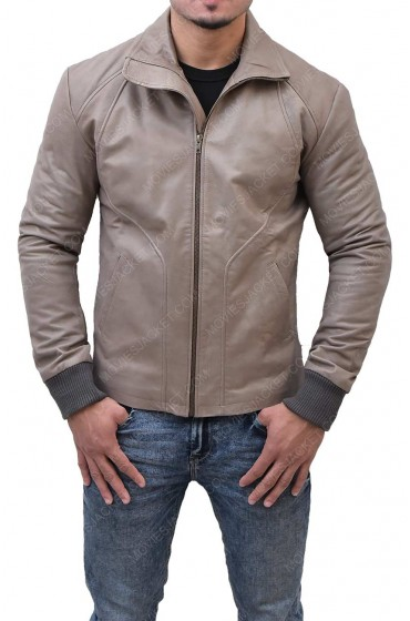 Ryan Reynolds Brown Biker Leather Jacket