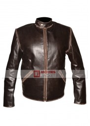 Sam Flynn Distressed Tron Legacy Leather Jacket
