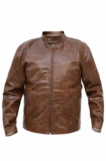 Scott Disick Brown Crocodile Jacket