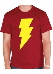 Yellow Shazam Logo Red T-Shirt