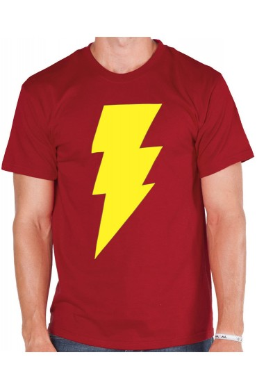 Shazam Logo Red Yellow T-Shirt