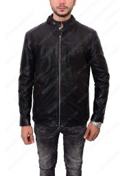 Zayn Malik Slim Fit Black Leather Jacket