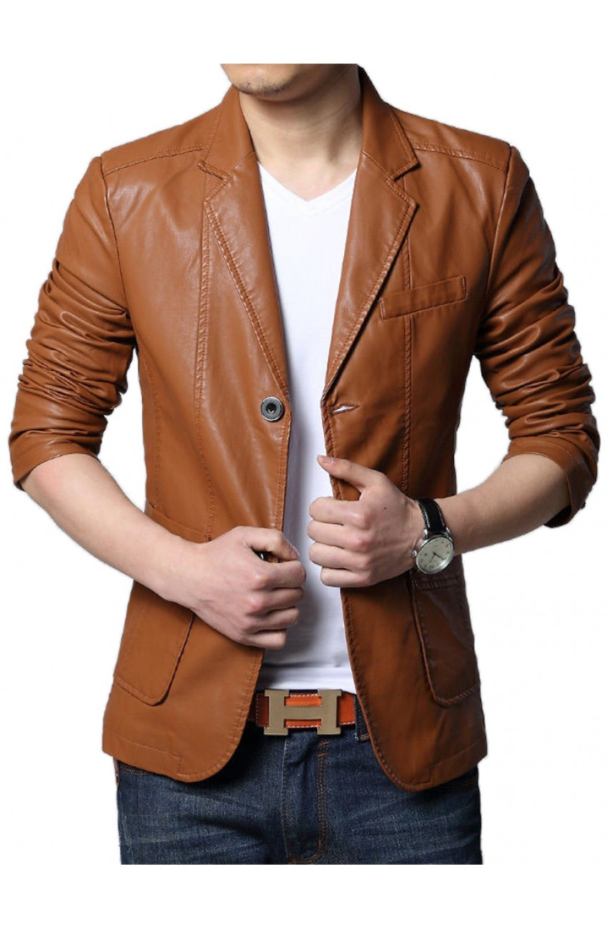 Men\u0027s Slim Fit Brown Blazer , Movies Jacket