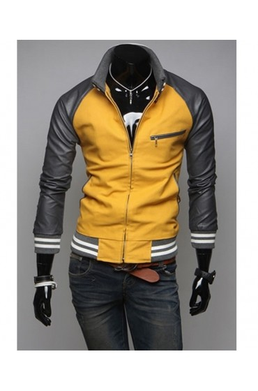 Men's Slim Fit Mustard Yellow Jacket