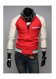 Slim Fit Red and White Jacket