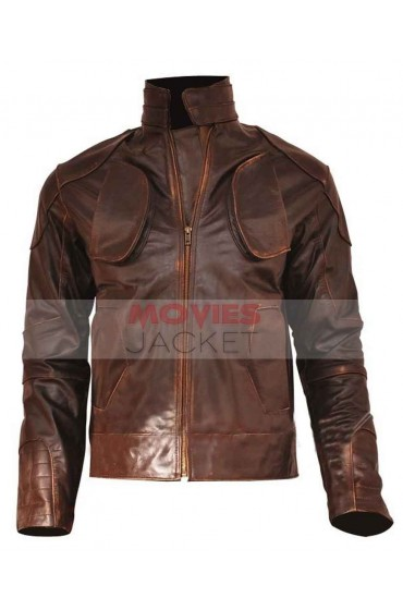 Snow Lockout Distressed Brown Leather Jacket