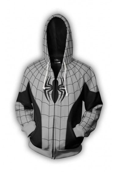 Spiderman Grey Zip Up Hoodie