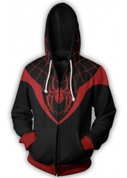 Spiderman Ultimate Miles Morales Zip Up Hoodie