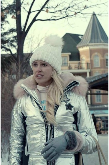Spinning Out Mandy Davis Puffer Silver Jacket