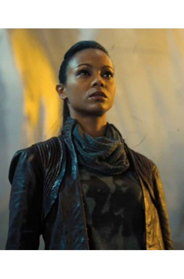 Zoe Saldana Star Trek Into Darkness Uhura Leather Jacket