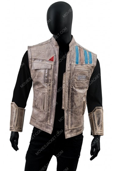 Star Wars The Rise Of Skywalker Finn Leather Vest