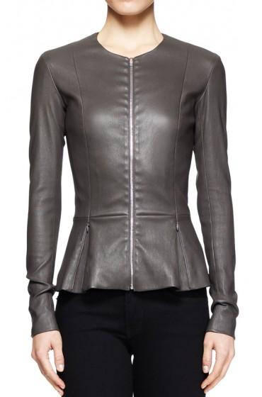 Katherine Heigl State of Affairs Peplum Leather Jacket