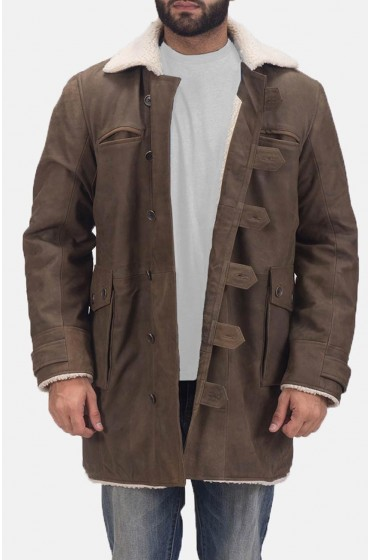 Storm Nite Brown Shearling Coat