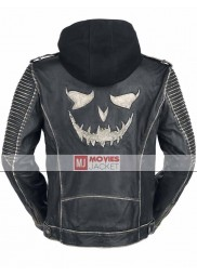 Suicide Squad The Killing Leather Jacket with Hoodie