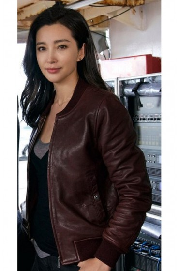 Suyin Meg Bingbing Li Leather Jacket