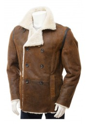 Tan Peacoat for Mens