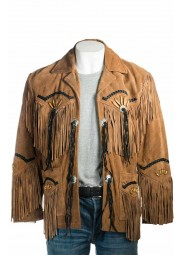 Mens Tan Suede Leather Jacket