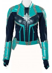 Captain Marvel Brie Larsons Leather Jacket