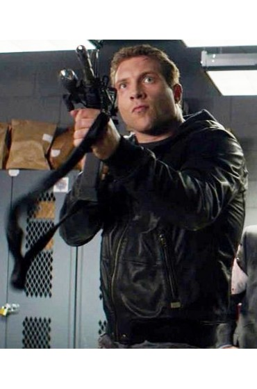 Terminator Genisys Kyle Reese Leather Jacket with Hoodie