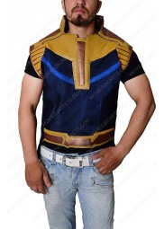 """Avengers Infinity War Thanos Leather Vest """"Free T-Shirt"""""""