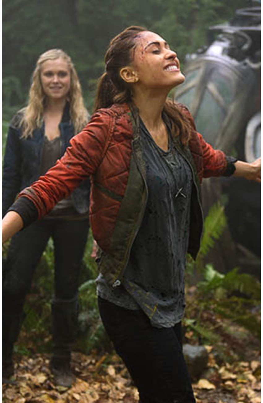 Raven Reyes The 100 Lindsey Morgan Leather Jacket
