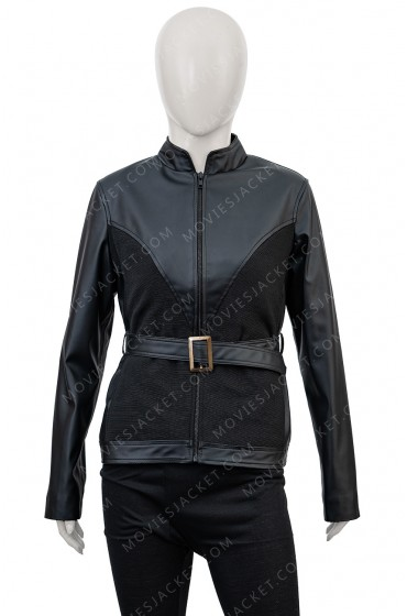 "The Avengers Black Widow Leather Jacket ""Free T-Shirt"""