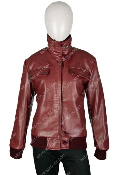 Kaley Cuoco The Big Bang Theory Penny Burgundy Leather Jacket