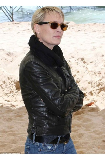 The Congress Robin Wright Leather Jacket