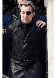 The Courier Gary Oldman Black Trench Coat