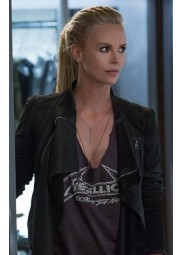 Fast and Furious 8 Charlize Theron Leather Jacket