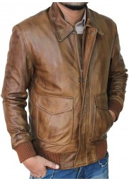 Ansel Elgort Leather The Fault in Our Stars Jacket