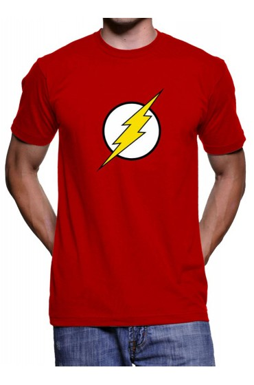 The Flash White and Yellow Logo Red T-Shirt