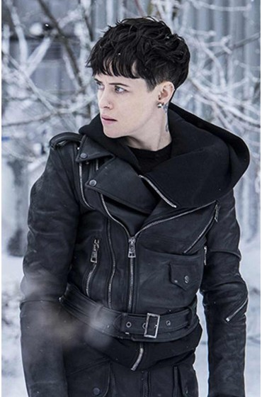 Claire Foy The Girl In The Spiders Web Biker Leather Jacket