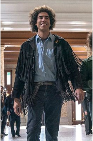 The Trial of the Chicago 7 Abbie Hoffman Fringe Jacket
