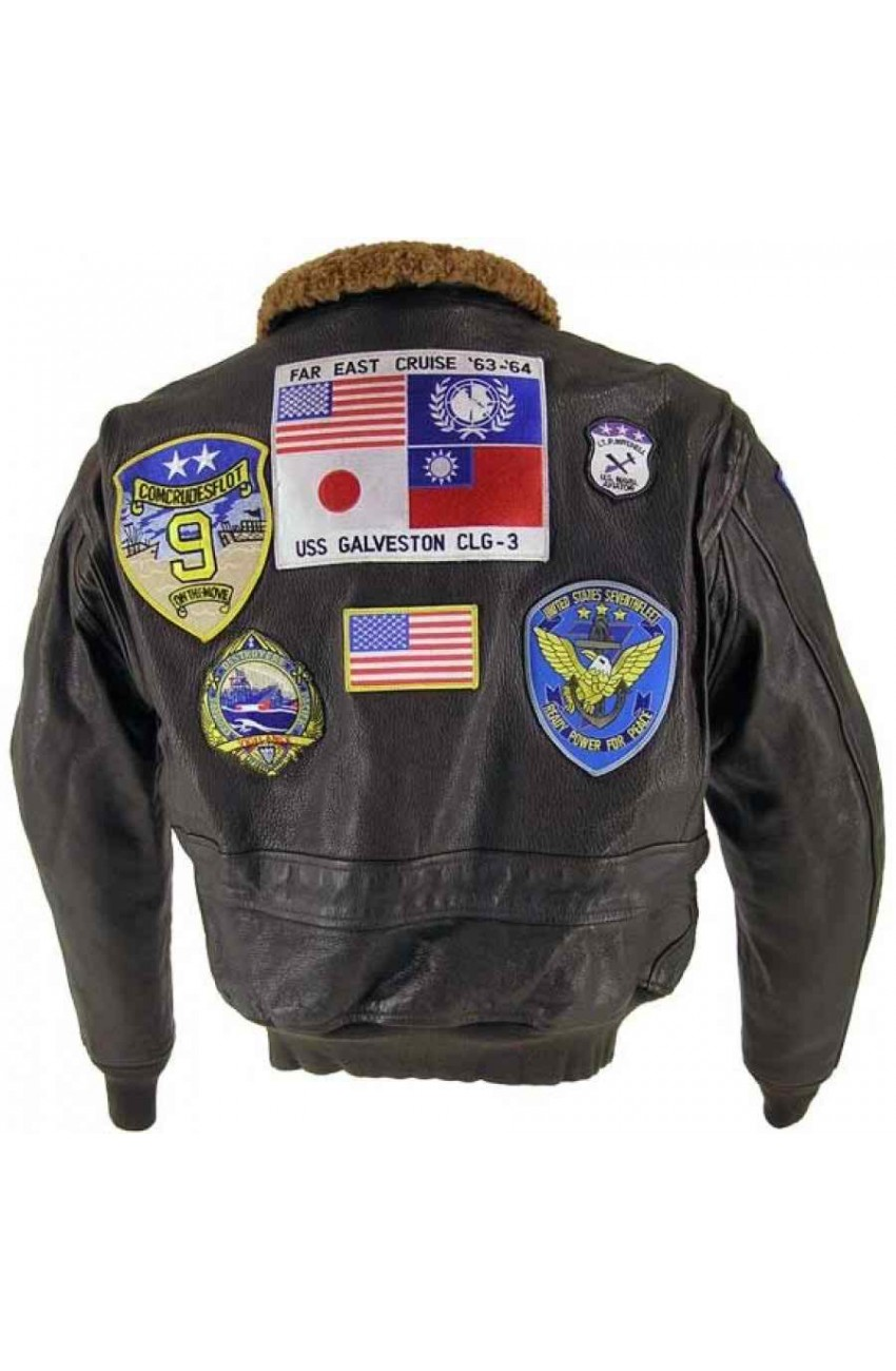 Top Gun Leather Bomber Jacket | Flight Tom Cruise Jacket