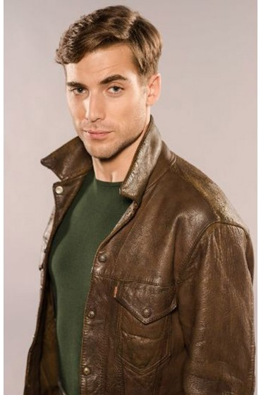 Tom Cummings X Company Dustin Milligan Leather Jacket