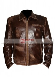 Tom Greer Movie Surrogates Bruce Willis Leather Jacket