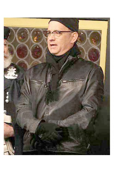 Tom Hanks 2011 Movie Larry Crowne Black Leather Jacket