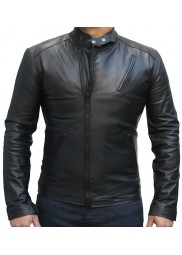 Iron Man Movie Tony Stark Black Leather Jacket