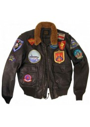 Tom Cruise Flight Top Gun Bomber Leather Jacket