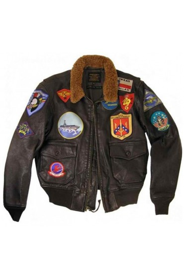 Tom Cruise Flight Top Gun Leather Bomber Jacket